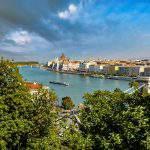 Budapest Danube water scenery