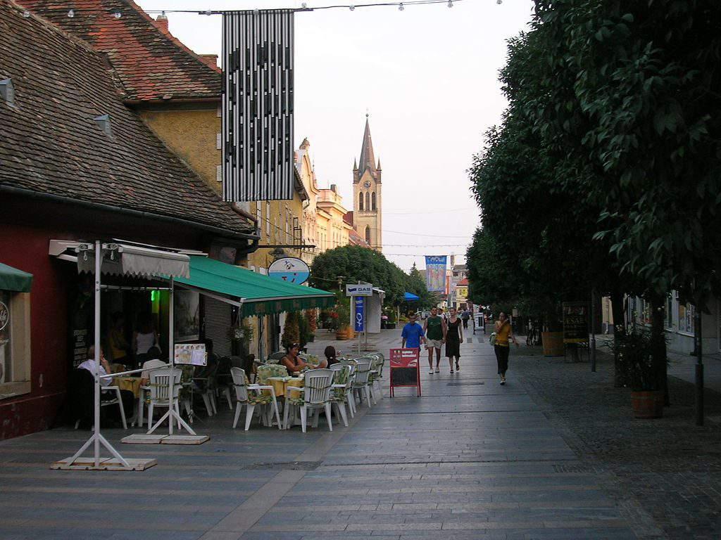 Keszthely city centre street