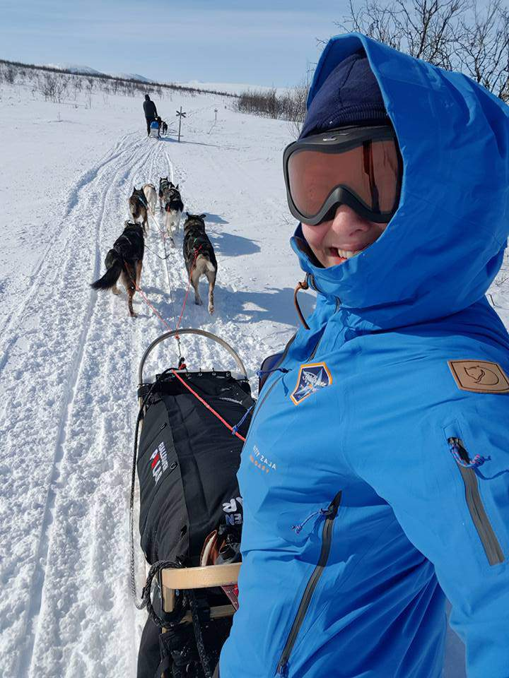 Fjällräven Polar Kitty Zaja North Pole dog sledge