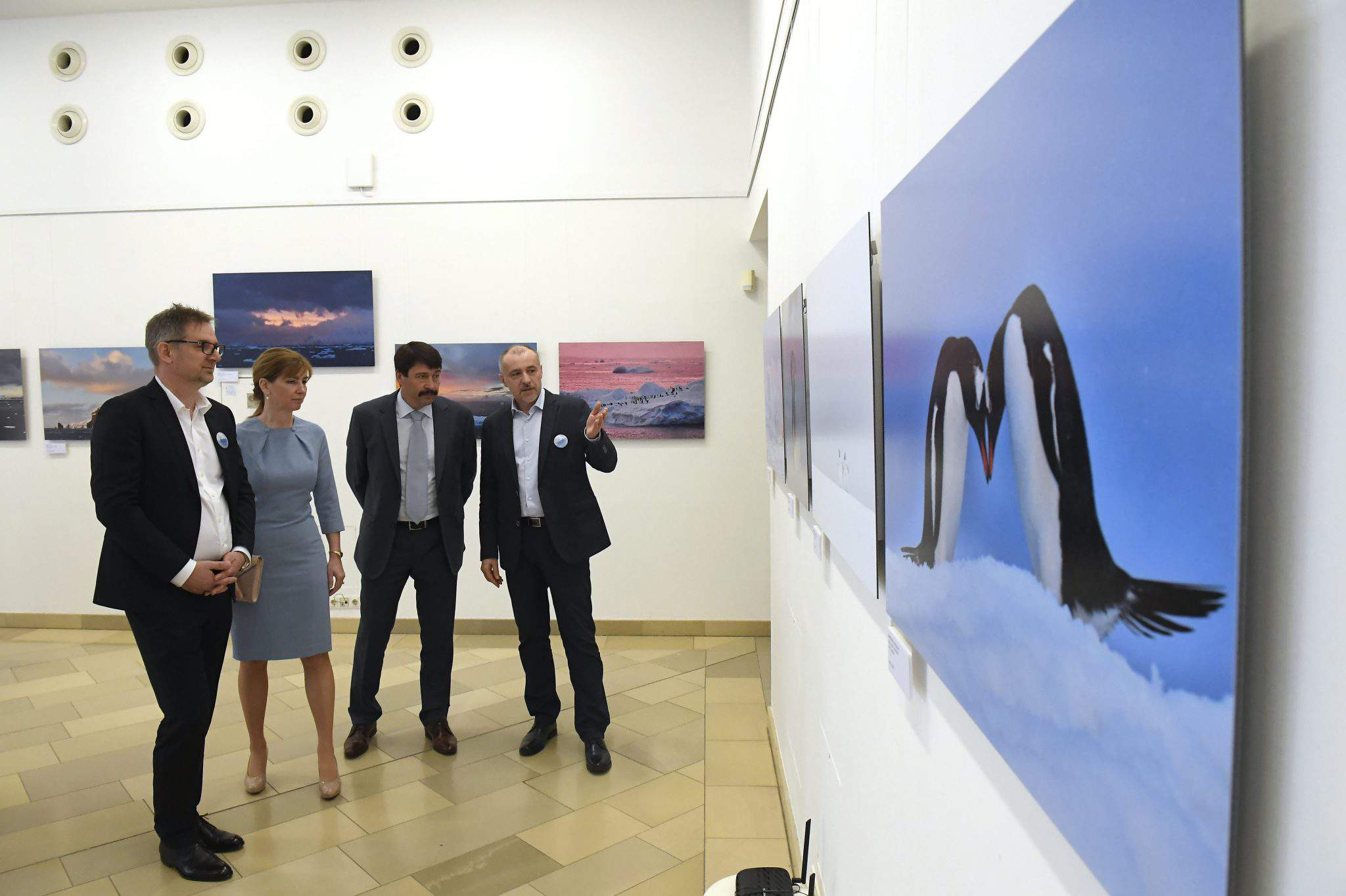 "President János Áder on Friday opened the photographic exhibition ""Our melting future"", showing images of the northern and southern ice caps."