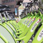 MOL Bubi bicylce Budapest Hungary