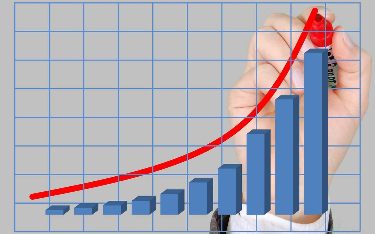 graph diagram increase statistics