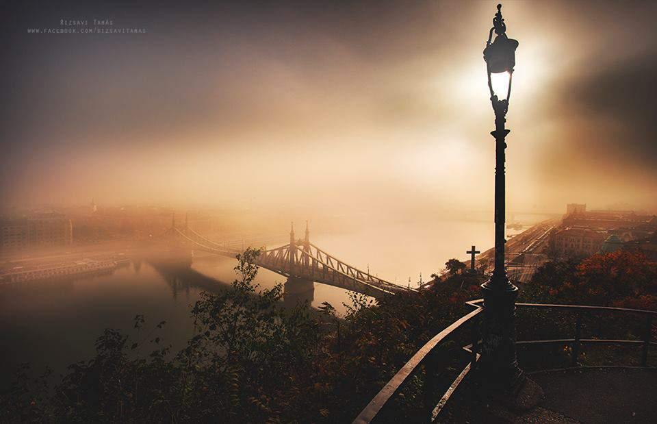 rizsavi3 budapest danube liberty bridge fog photography