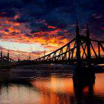 rizsavi8 budapest liberty bridge sunset clouds danube photography