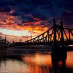 rizsavi8 budapest liberty bridge sunset clouds danube photography