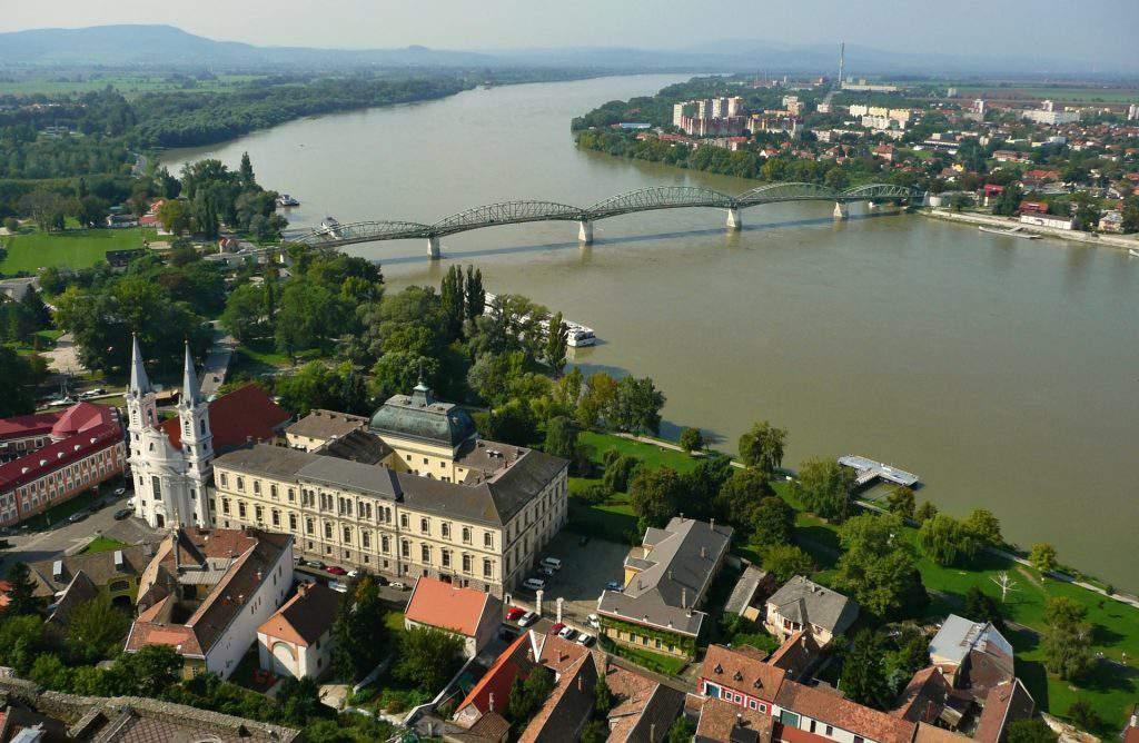 Esztergom Danube bridge Slovakia