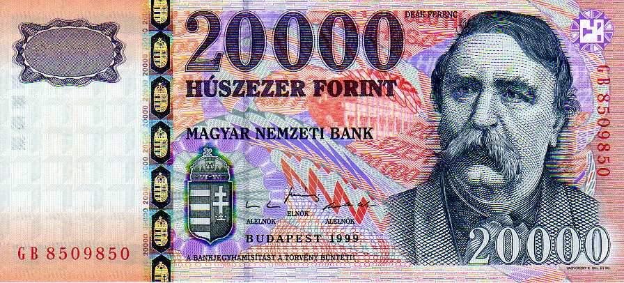 húszezres bankjegy