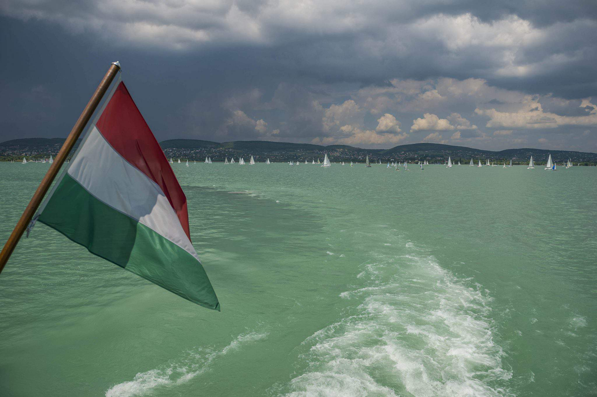 Lake Balaton Hungary flag sailing