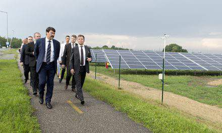 Hungarian president inaugurates solar power plant near the Austrian border