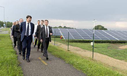Hungarian president inaugurates solar power plant near the Austrian border