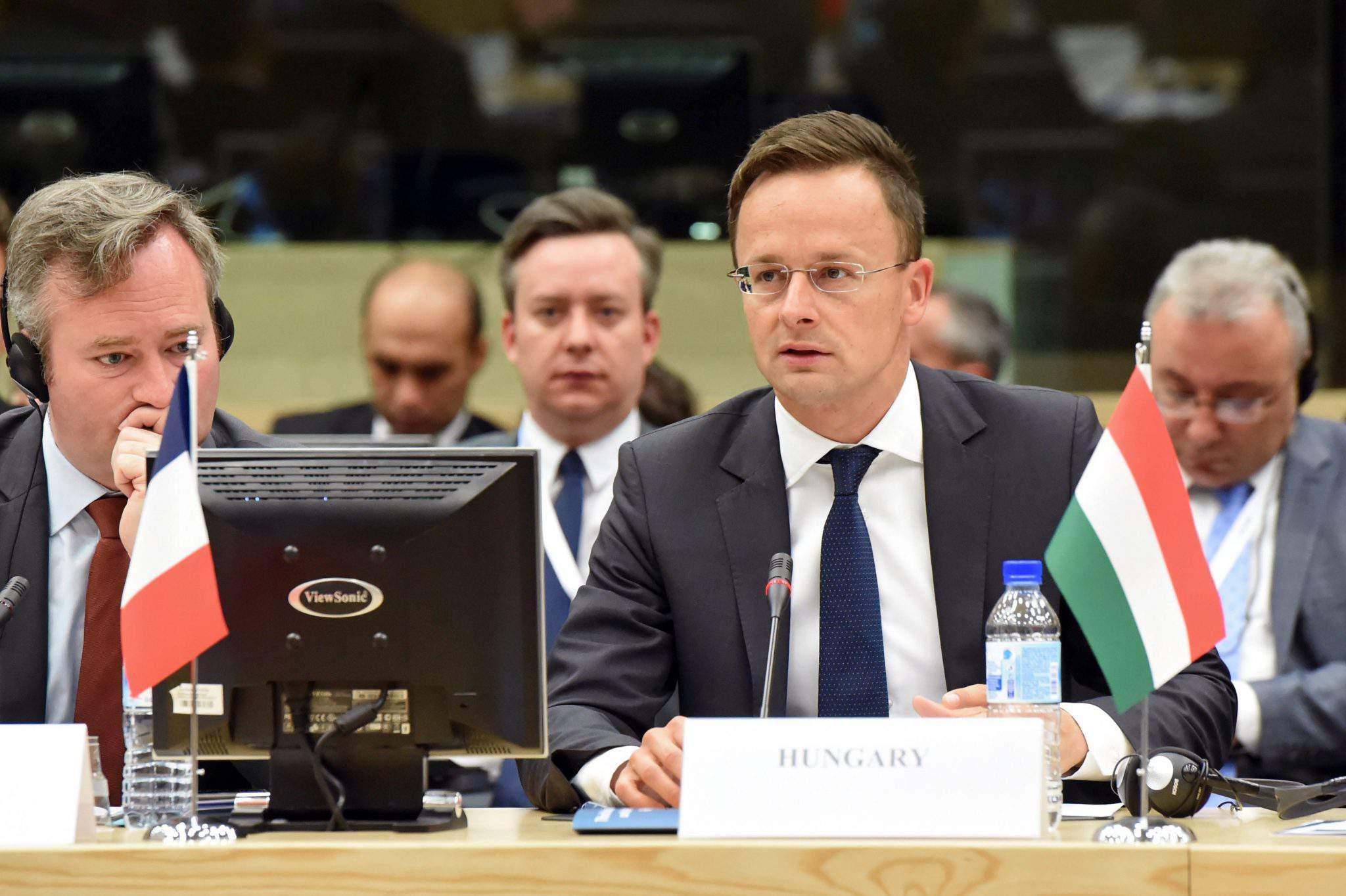 Hungary foreign minister Péter Szijjártó