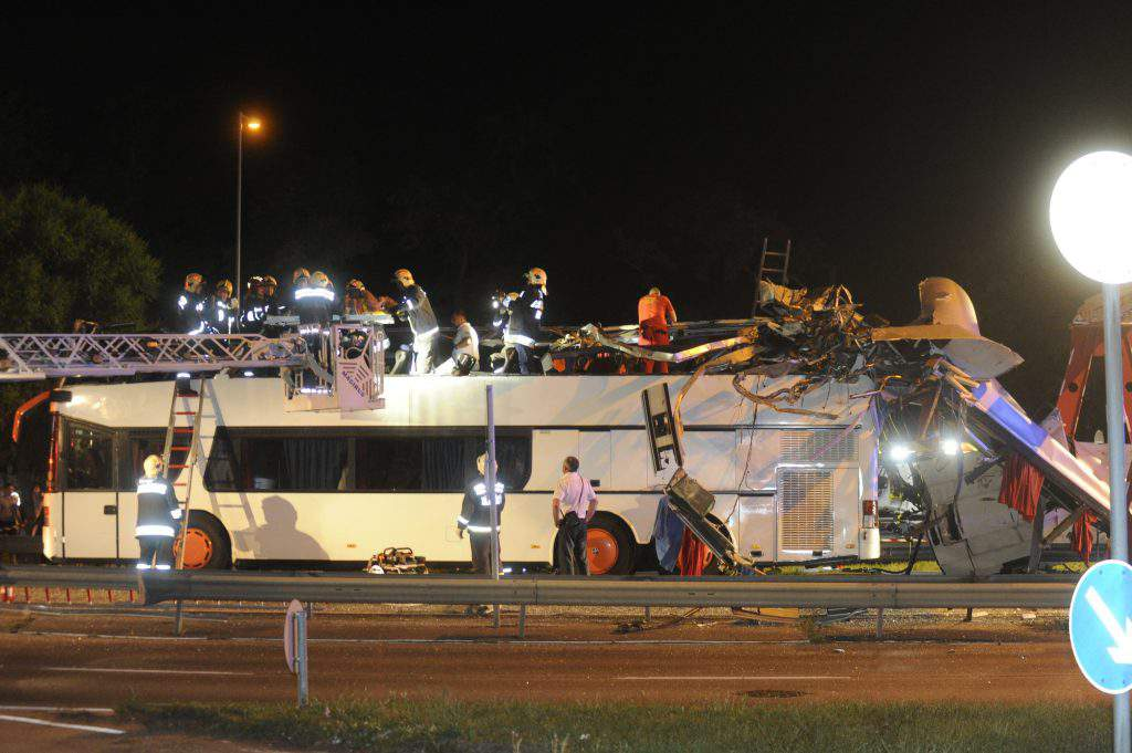 accident bus Budapest