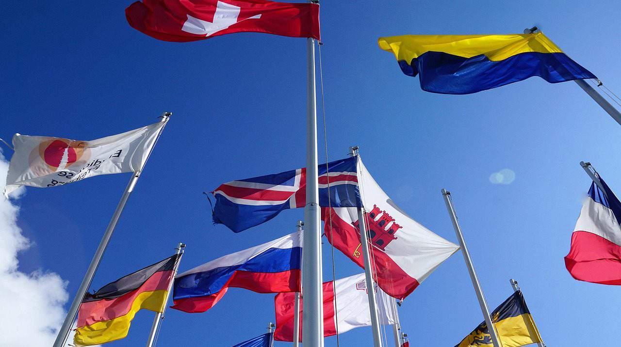 NATO EU flags
