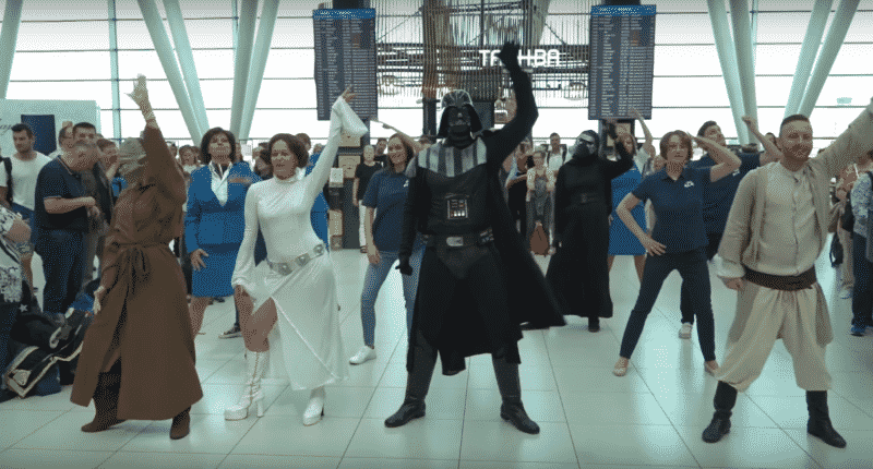 star wars flashmob