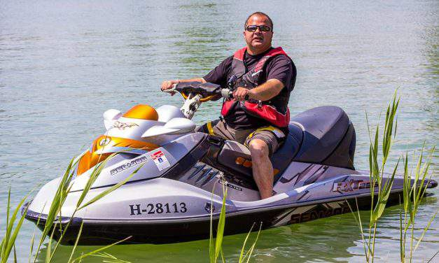 Hungarian blind man drives cars, buses, rides motorcycles and jet skis