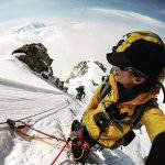mountaineer climbing denali snow