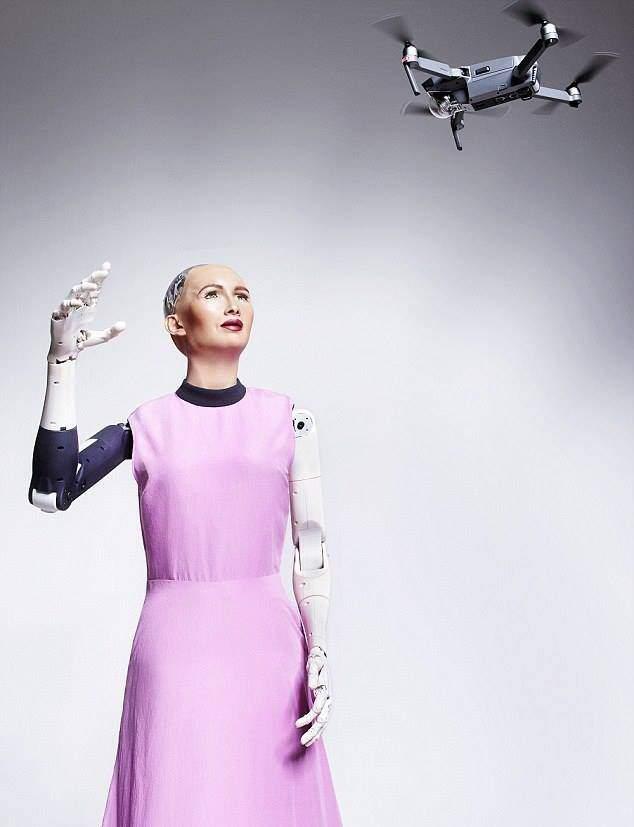 AI Sophia robot