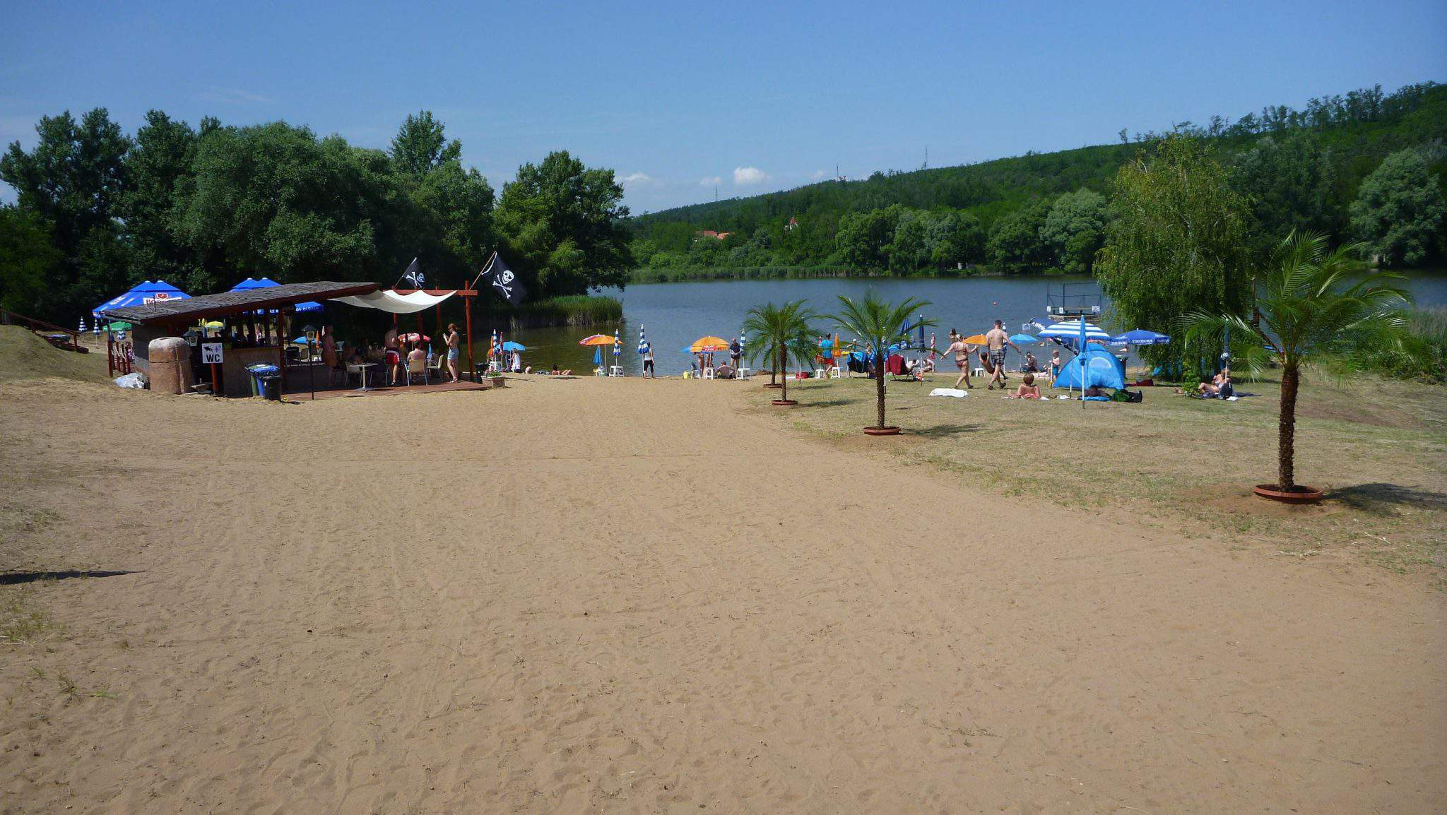 Domonyvölgy beach lake