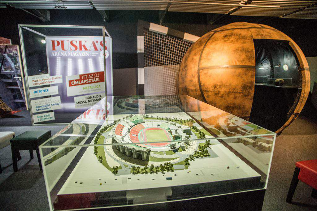 Puskás Ferenc Stadium visitor centre opens, photo: MTI