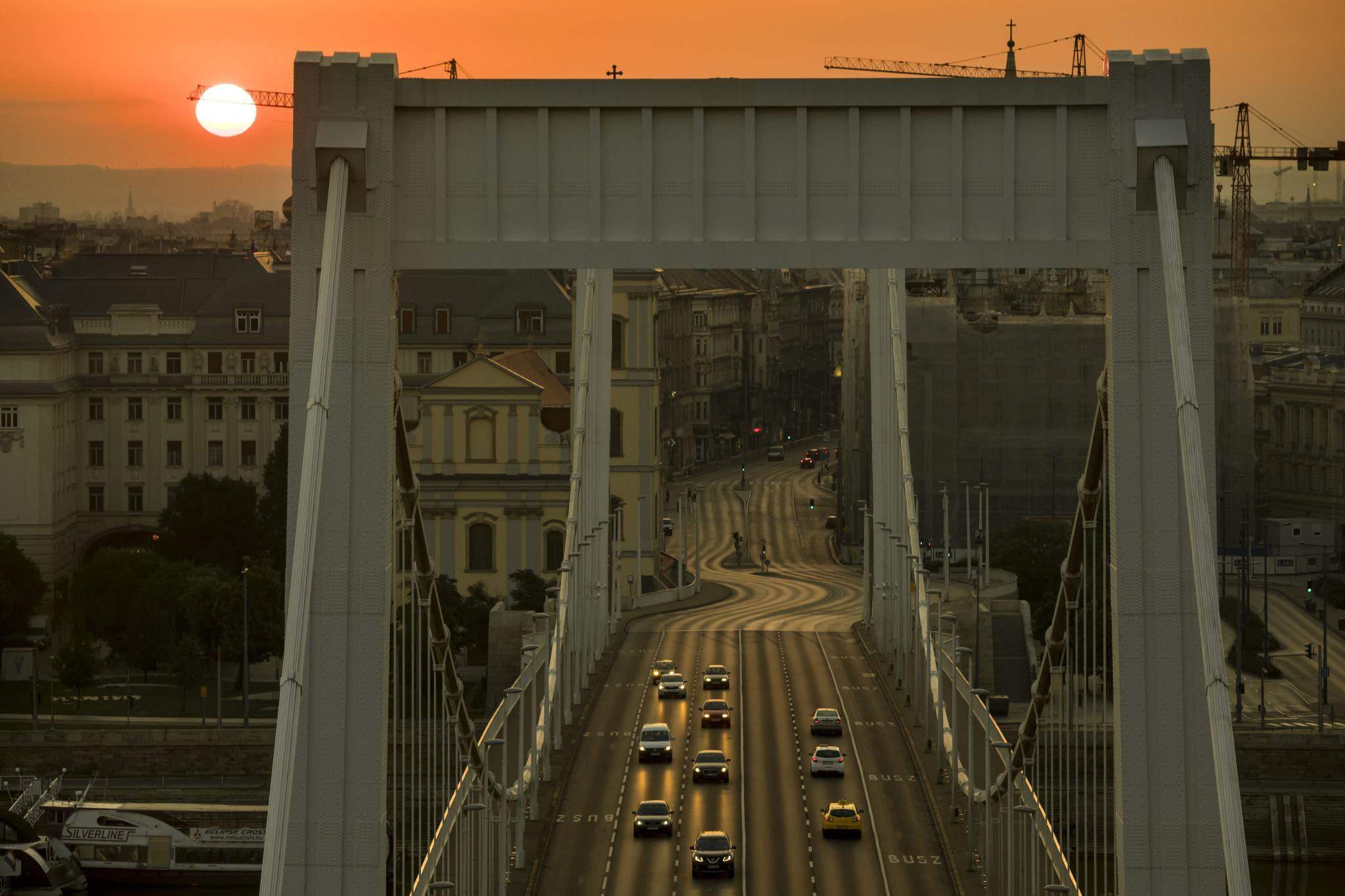 Budapest morning traffic
