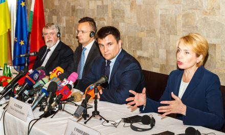 Hungarian ministers discuss Ukraine education law with Ukrainian ministers