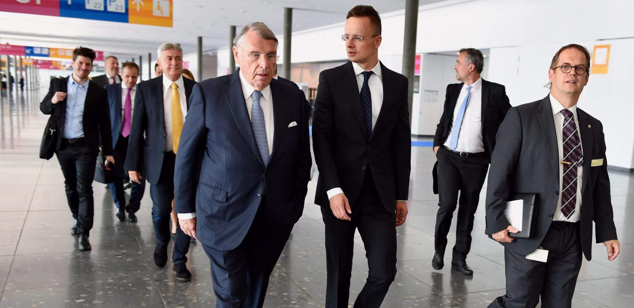 Stuttgart Germany Hungarian Foreign Minister