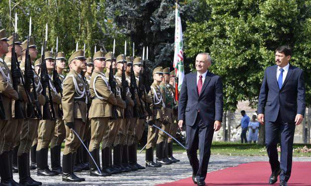 Albania's President Ilir Meta visits Hungary