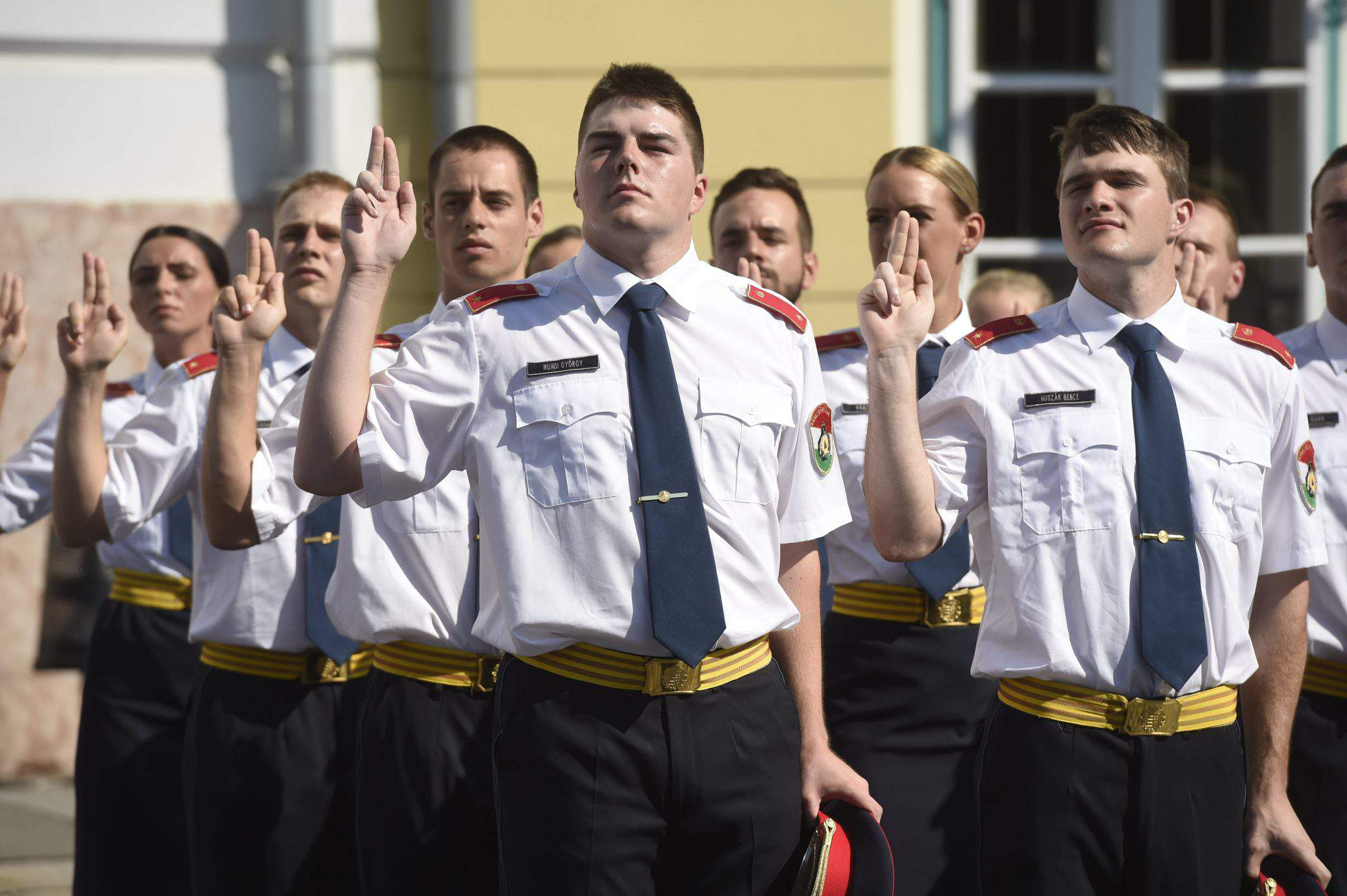 Oath-taking ceremony of police officers held at Budapest's Castle District