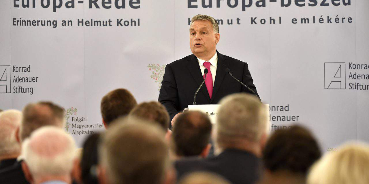 Conference marking the first anniversary of the death of Helmut Kohl – Orbán: No compromise over migration
