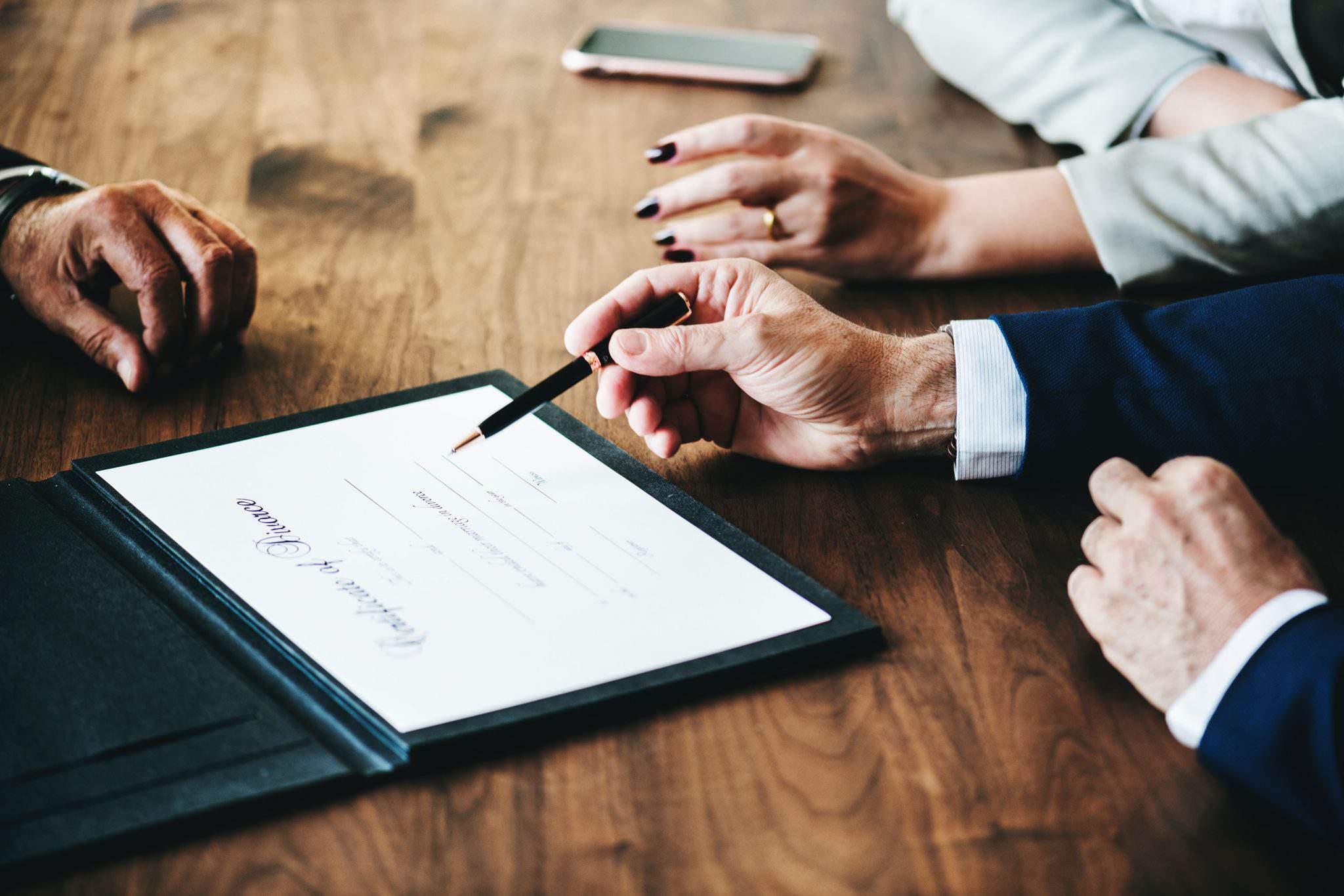 business agreement finances