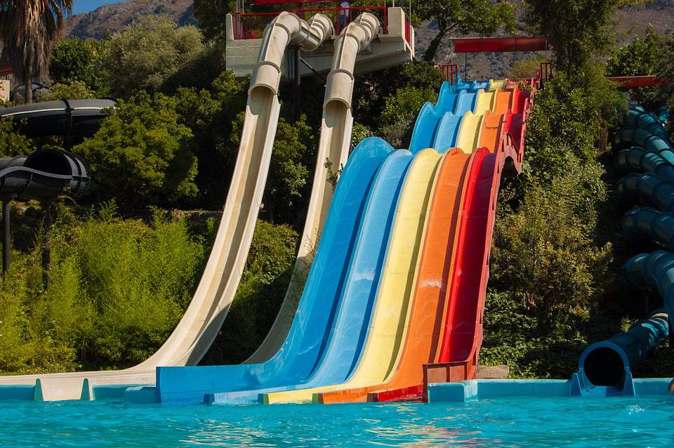 aquaparks, slides