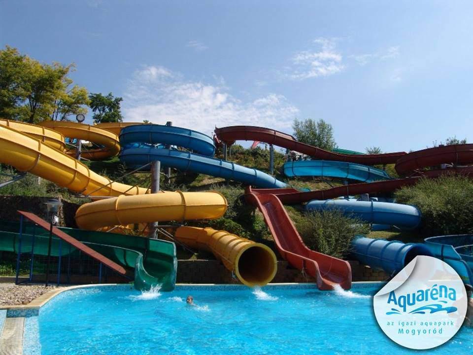 aquaparks, water slides