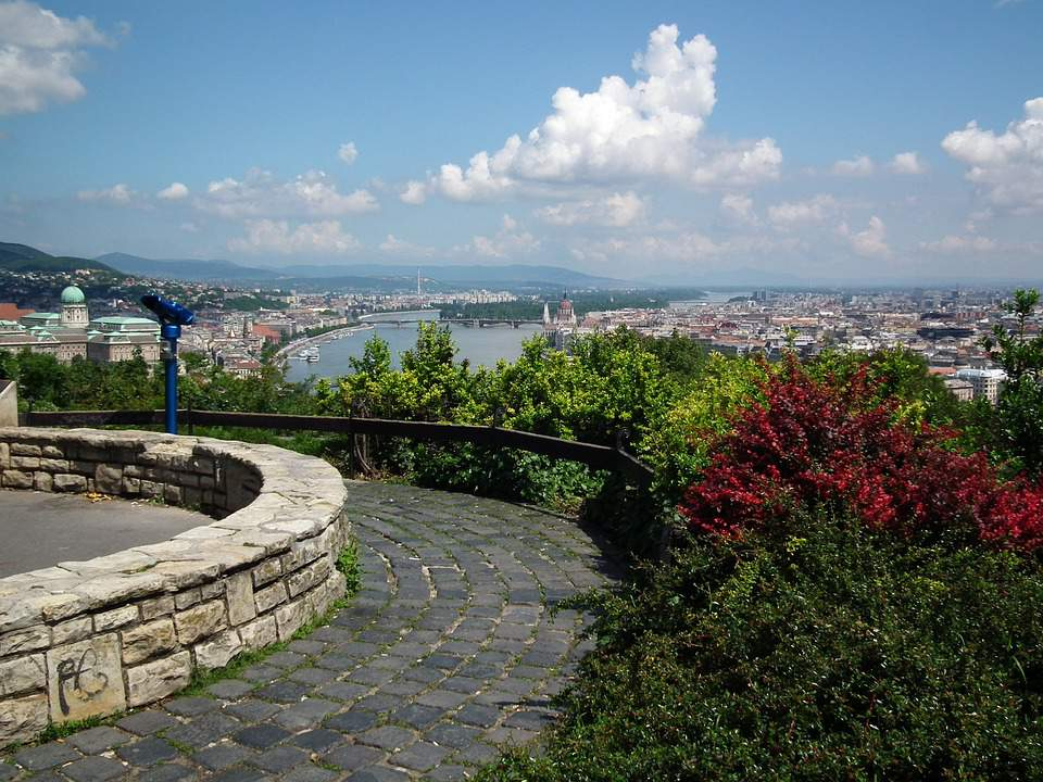 hill, Budapest, scenery