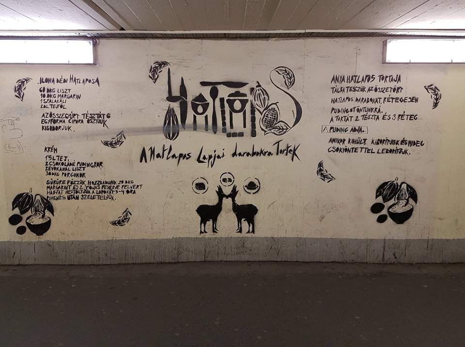 six layered, graffiti, recipe, győr