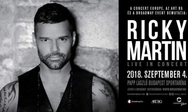 Ricky Martin is coming to Budapest!