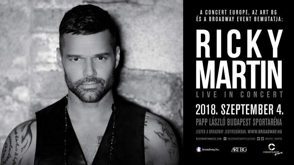 Ricky Martin concert Budapest