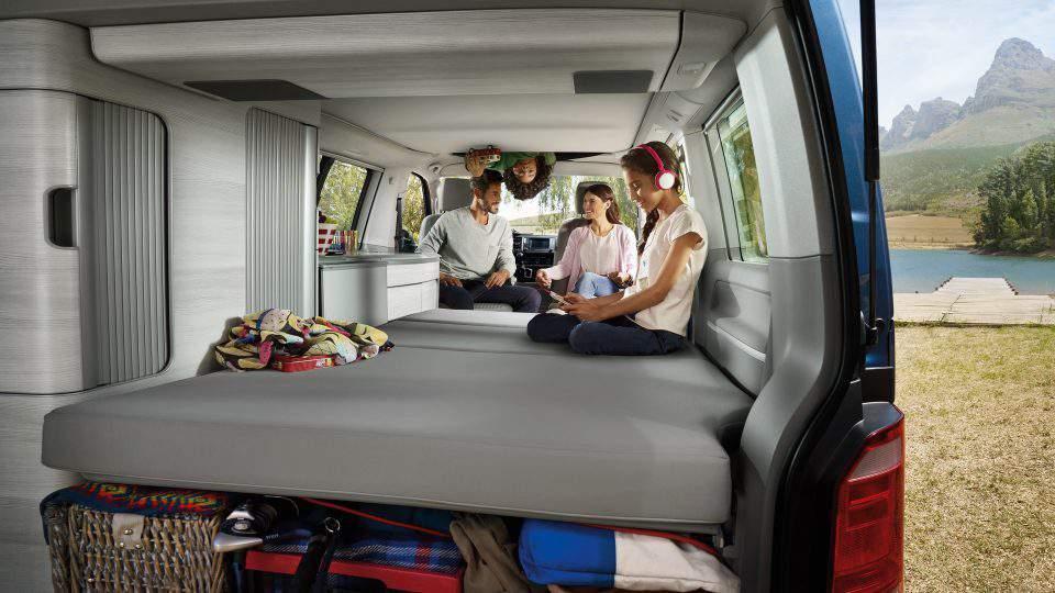 camper van, inside