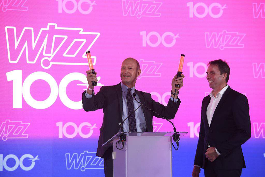 Wizz Air 100 event celebration