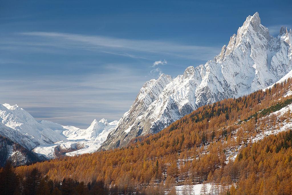mont blanc mountain italy