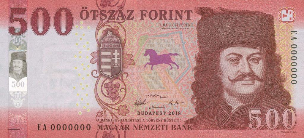 500 HUF note