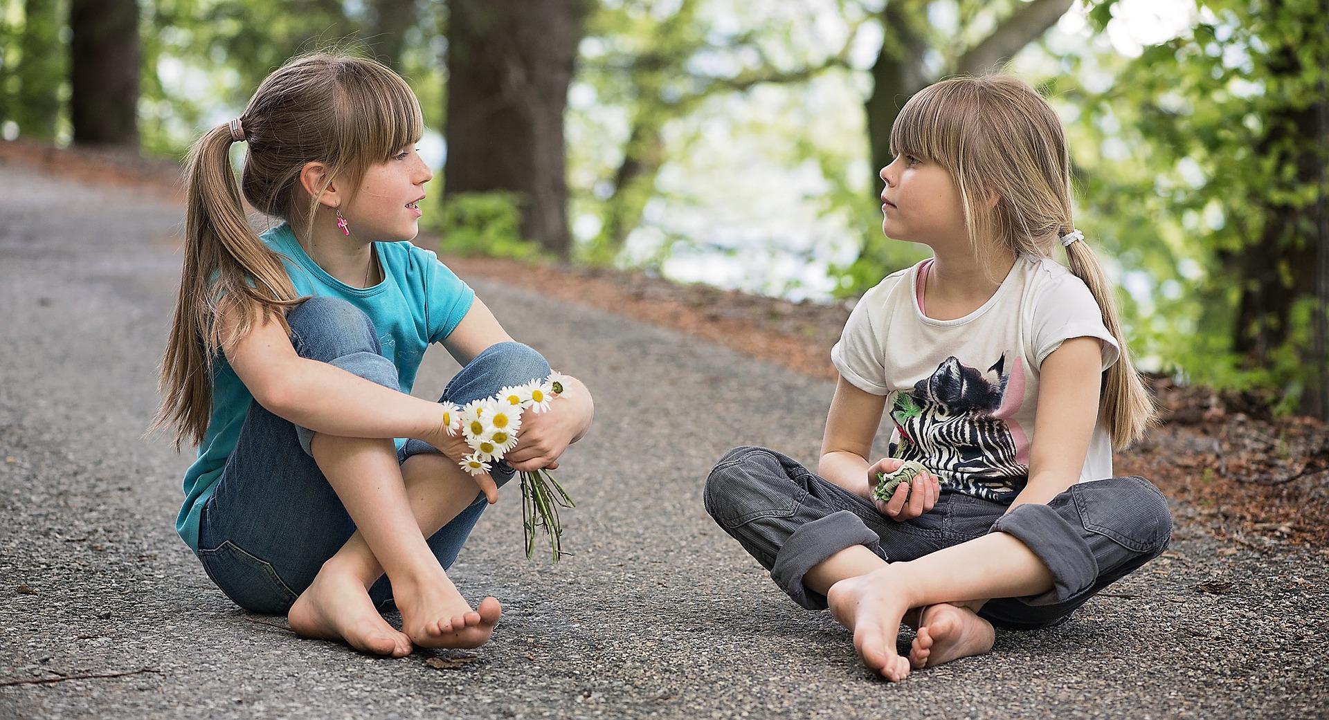 Children siblings play