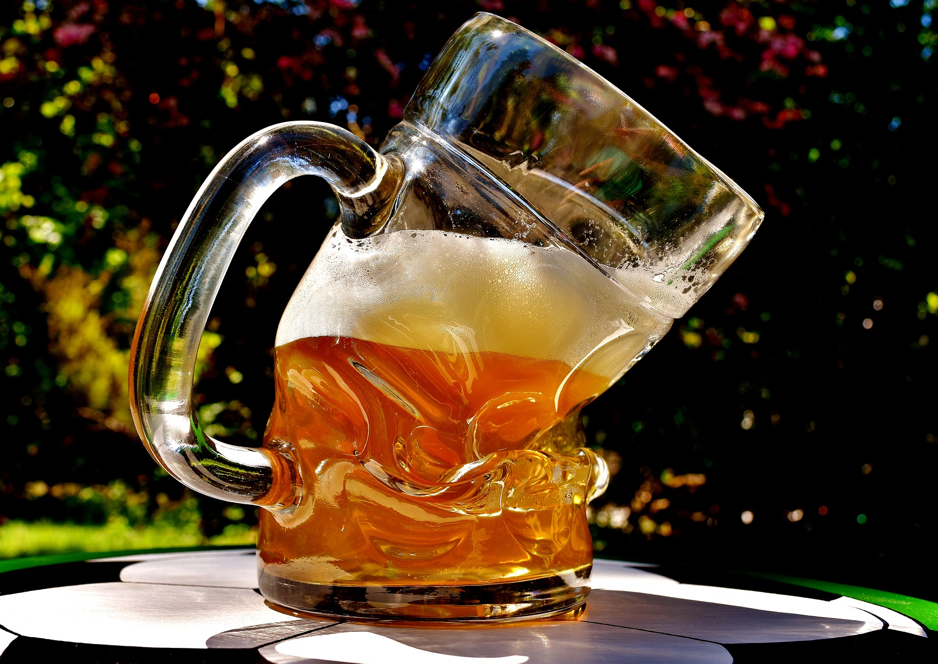 deformed glass beer drink alcohol