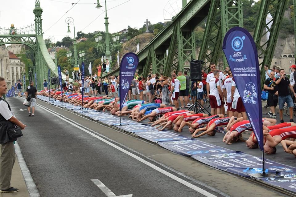 World record set on Liberty Bridge in Budapest
