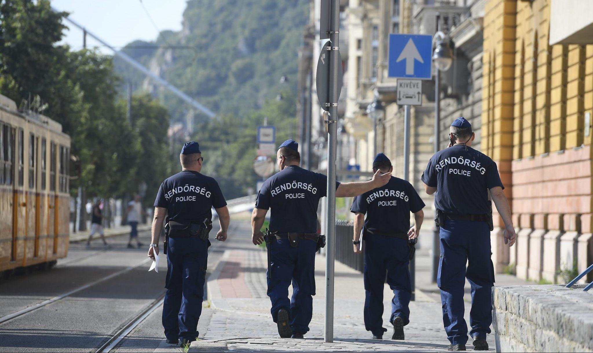 Hungarian police policemen