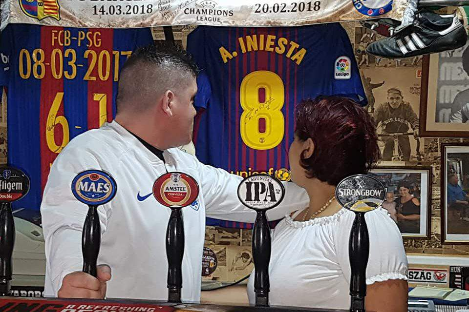 The Hungarian bar that Iniesta's family loves
