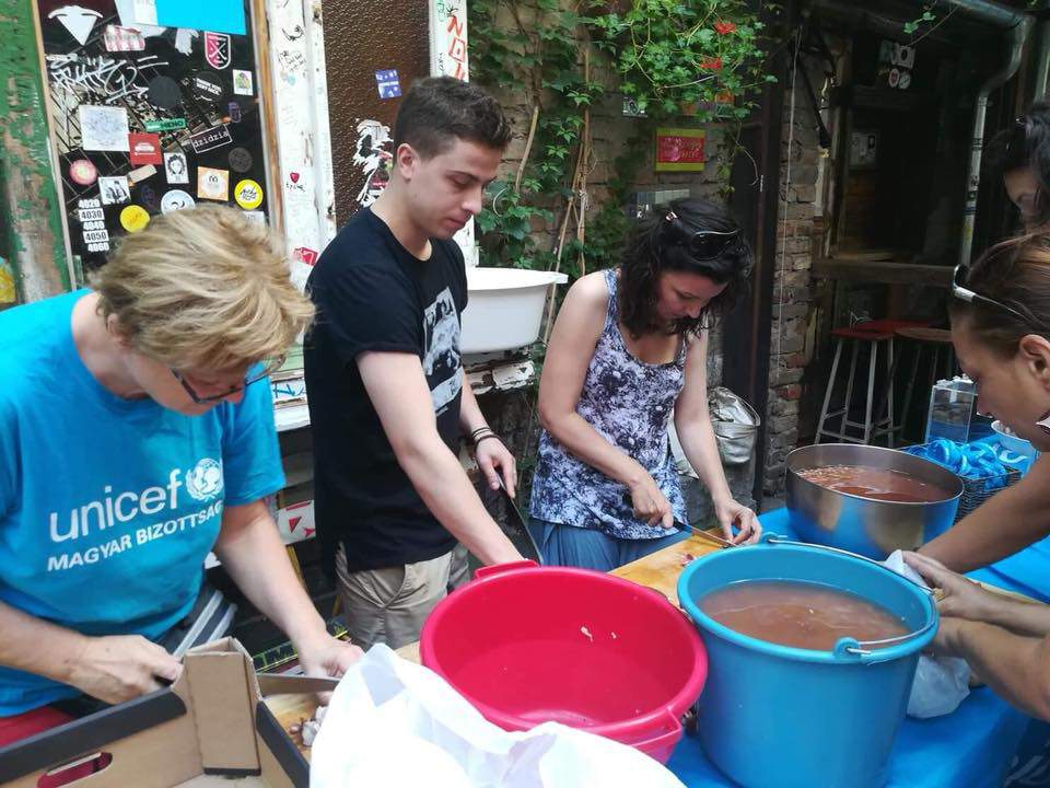 UNICEF Hungary charity cooking