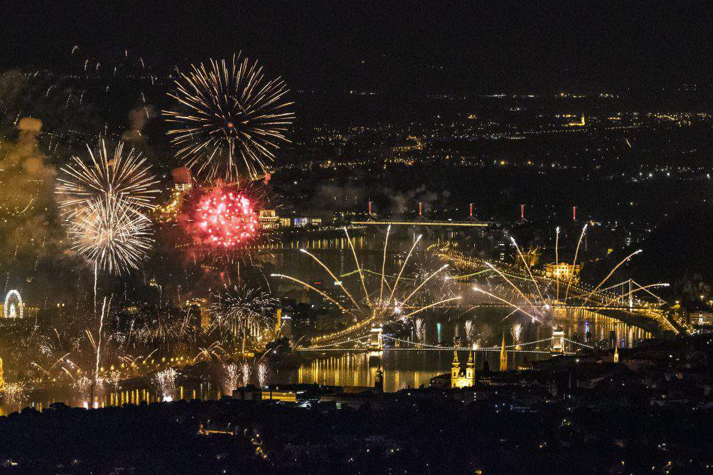 August 20, 2018 - Hungary celebrated the national holiday with amazing fireworks
