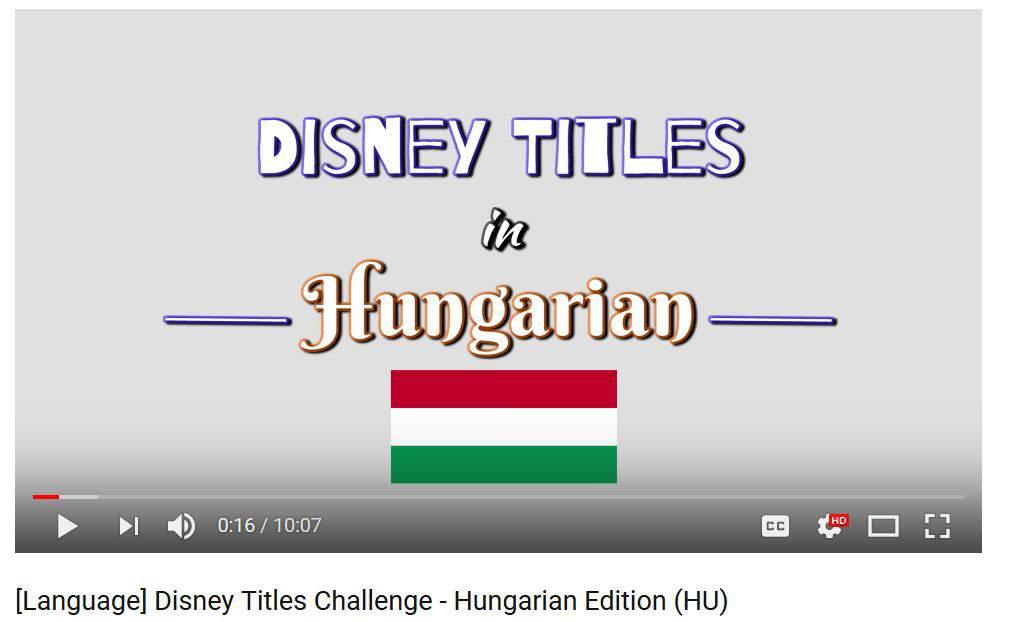 disney hungarian movie title