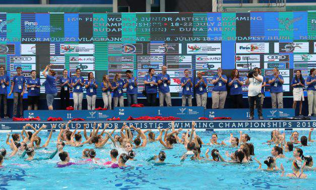 Exclusive Synchronized Swimming World Cup finales in Budapest, 2019!