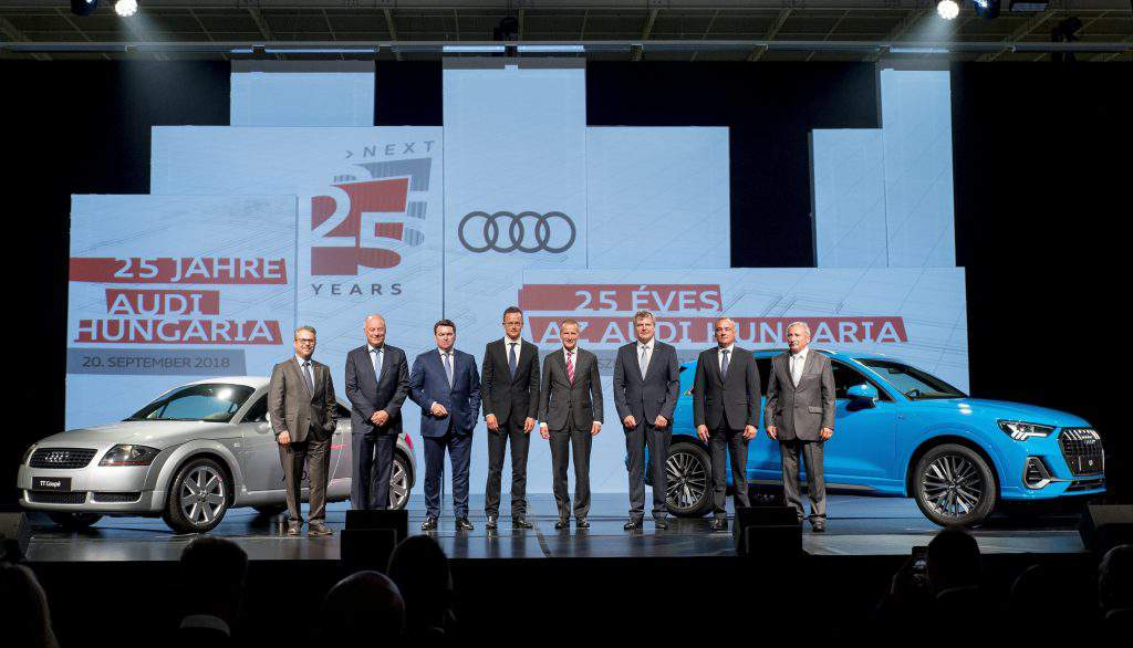 audi 25 years in hungary